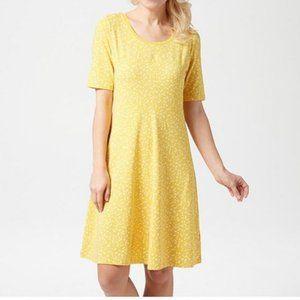 Isaac Mizrahi Live! Knit Scatter Dot Swing Dress